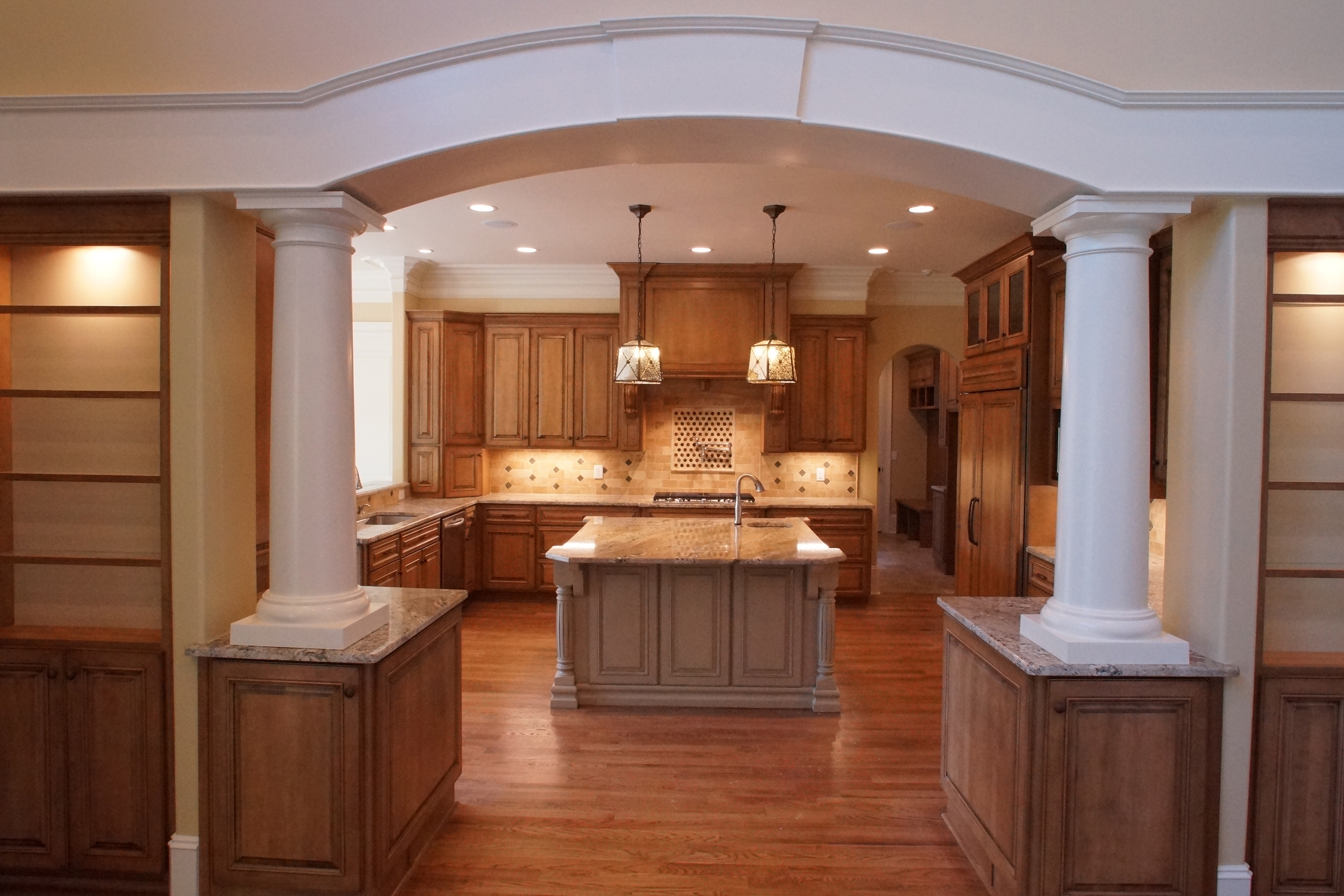 Kitchen with Grand Entry