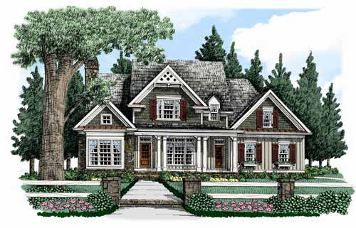 Action Builders Inc.   Southern Living Floor Plans Bucknell Place Elevation