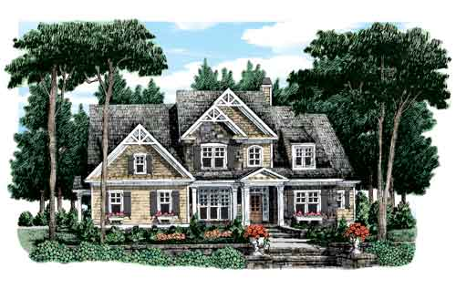 Action Builders Inc.   Southern Living Floor Plans Graves Springs Elevation