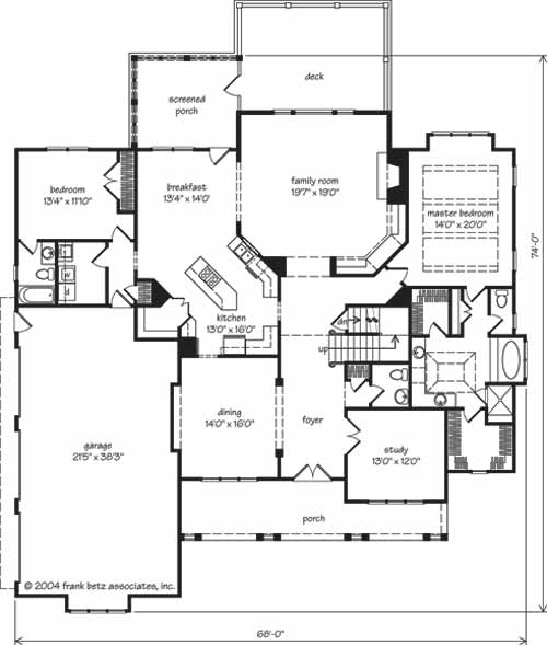 SL 097 McPherson Place houseplan on custom designed home plans