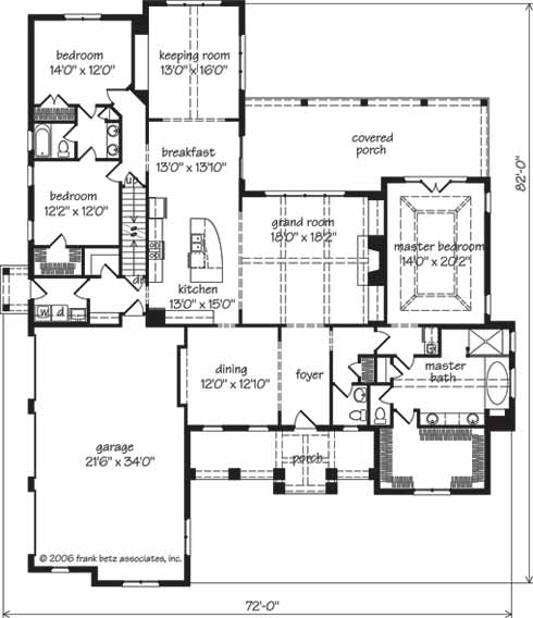 Southern living custom builder action builders inc for Southern living house plans with keeping rooms